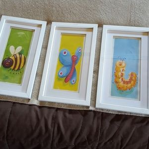 Set of 3 pictures,  a couple scuff marks